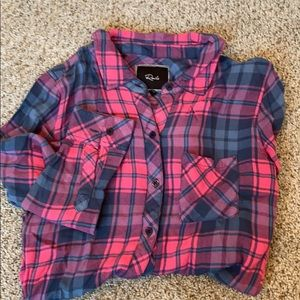 Rails pink and blue button down. Size XS.
